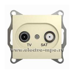 Ю0983. Механизм Glossa GSL000297 розетки TV/SAT конечной с/п бежевый (Schneider Electric)