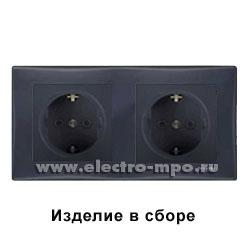 Ю0671. Рамка-2 Sedna SDN5800370 горизонтальная графит (Schneider Electric)