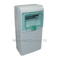 Е4831. Бокс 13190 IP65 на 8 модулей 460х236х160мм с прозрачной дверью (Schneider Electric)