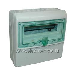 Е4832. Бокс 13191 IP65 на 12 модулей 335х340х160мм с прозрачной дверью (Schneider Electric)