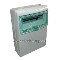 Е4833. Бокс 13192 IP65 на 12 модулей 460х340х160мм с прозрачной дверью (Schneider Electric)