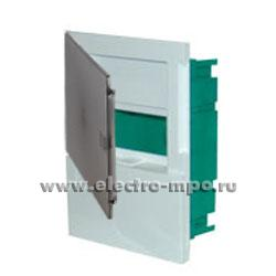 Е4224. Бокс MIP22106S Mini Pragma на 6 модулей с клеммником и прозрачной дверцей (Schneider Electric)