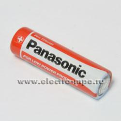 26650.С6650 Элемент питания Panasonic Red Zink Carbon R6 (AA) BP4 1,5В солевой (Panasonic)