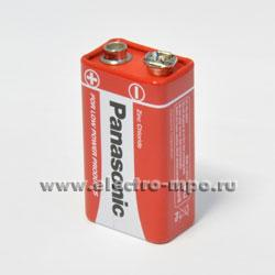 26654.С6654 Элемент питания Panasonic Red Zink Carbon 6F22 (9V) BP1 9В солевой (Panasonic)