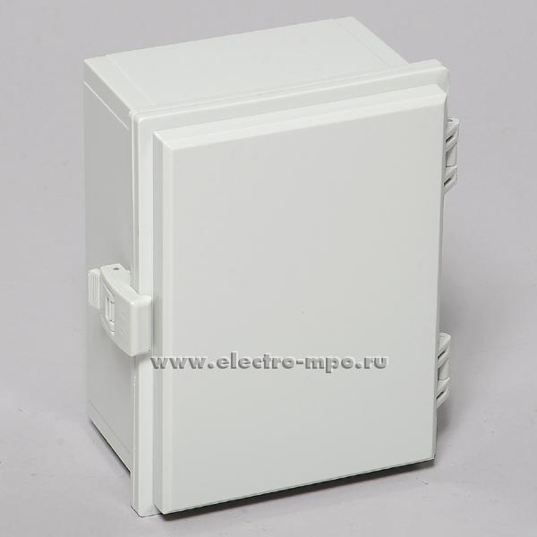 "К0831. Коробка SP-MG-152010 пластиковая с петлями и защелкой 200х150х100мм IP66 серая (Saipwell)   ЗАО ""МПО Электромонтаж"""