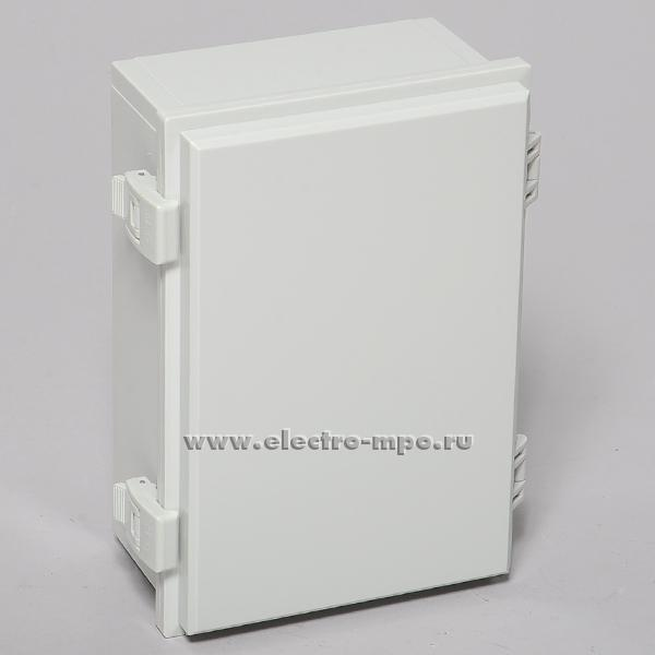 "К0832. Коробка SP-MG-172510 пластиковая с петлями и защелкой 250х170х100мм IP66 серая (Saipwell)   ЗАО ""МПО Электромонтаж"""