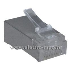 Р2301. Разъём EC-UP8P8C-SD-003-TR-1000 компьютерный RJ45 8P8C 8 конт. экран. категория 5  (Netlan)