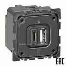 Ю1397. Адаптер Mureva Styl MUR35110 с крышкой IP55 антрацит для механизмов Unica New (Schneider Electric)